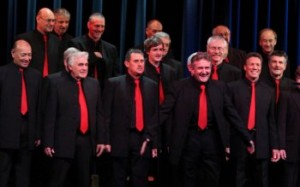 Photo of Bays Barbershop men's chorus taken in 2011