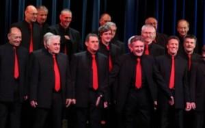 Photo of Bays Barbershop men's chorus taken in 2011
