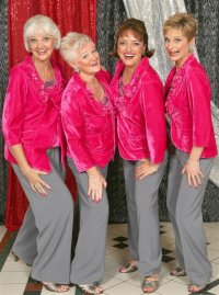 Photo of Offbeat quartet at 2011 barbershop competiton