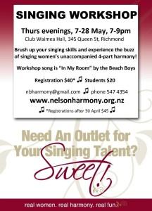Singing Workshop Flyer